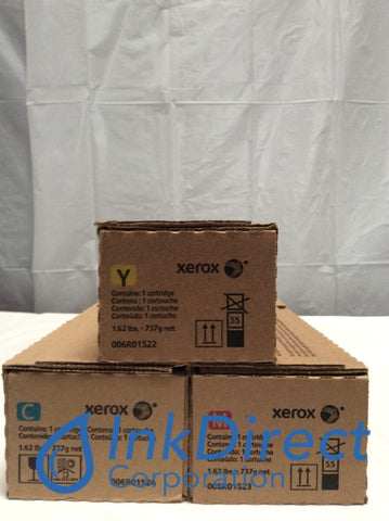 Xerox 6R1522 6R1523 6R1524 Color 550 560 Toner Cartridge Cyan Magenta Yellow Color 550 560 570 DocuColor C60 C70 Toner Cartridge