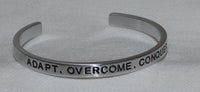 Adapt, Overcome, Conquer | Engraved Handmade Bracelet by: Say It and Wear It Jewelry Say It and Wear It