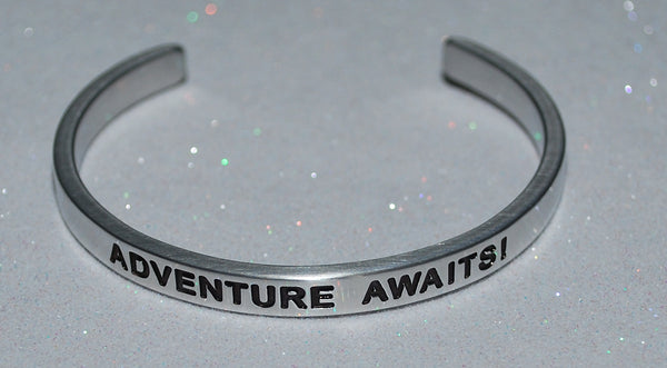 Adventure Awaits! | Engraved Handmade Bracelet by: Say It and Wear It Jewelry Say It and Wear It