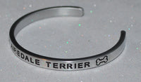I Love My Airedale Terrier  |  Engraved Handmade Bracelet by: Say It and Wear It Jewelry - #love