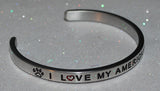 I Love My American Eskimo  |  Engraved Handmade Bracelet by: Say It and Wear It Jewelry - #love