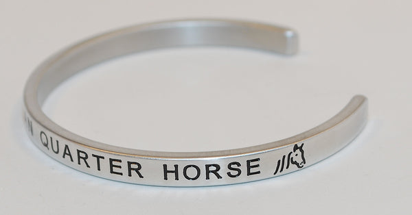 I Love My American Quarter Horse  |  Engraved Handmade Bracelet by: Say It and Wear It Jewelry - #love
