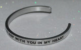 And Tonight I'll Fall Asleep With You In My Heart | Engraved Handmade Bracelet by: Say It and Wear It Jewelry Say It and Wear It