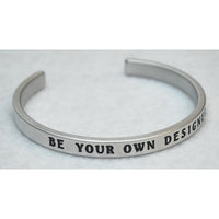 Be Your Own Designer | Engraved Handmade Bracelet by: Say It and Wear It Say It and Wear It