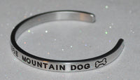I Love My Bernese Mountain Dog  |  Engraved Handmade Bracelet by: Say It and Wear It Jewelry - #love