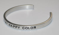 Black Is My Happy Color | Engraved Handmade Bracelet by: Say It and Wear It Jewelry Say It and Wear It