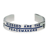 Blessed Are The Peacemakes with Punisher Skull and Thin Blue Line