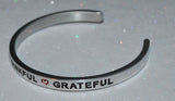 Blessed * Thankful * Grateful | Engraved Handmade Bracelet by: Say It and Wear It Jewelry Say It and Wear It