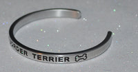 I Love My Border Terrier  |  Engraved Handmade Bracelet by: Say It and Wear It Jewelry - #love