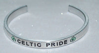 Celtic Pride | Engraved Handmade Bracelet by: Say It and Wear It Jewelry Say It and Wear It