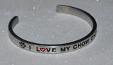 I Love My Chow Chow  |  Engraved Handmade Bracelet by: Say It and Wear It Jewelry - #love