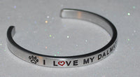 I Love My Dalmatian  |  Engraved Handmade Bracelet by: Say It and Wear It Jewelry - #love