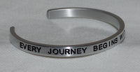 Every Journey Begins With A Single Step | Engraved Handmade Bracelet by: Say It and Wear It Jewelry Say It and Wear It