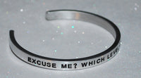 Excuse me? Which Level Of Hell Is This? | Engraved Handmade Bracelet by: Say It and Wear It Jewelry Say It and Wear It