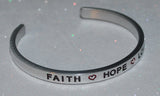 Faith * Hope * Love | Engraved Handmade Bracelet by: Say It and Wear It Jewelry Say It and Wear It