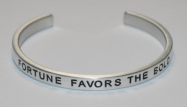 Fortune Favors The Bold | Engraved Handmade Bracelet by: Say It and Wear It Jewelry Say It and Wear It