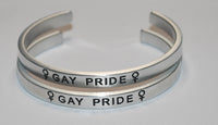 Female Gay Pride Set | Engraved Handmade Bracelet by: Say It and Wear It Jewelry Say It and Wear It