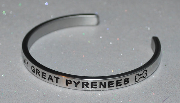 I Love My Great Pyrenees  |  Engraved Handmade Bracelet by: Say It and Wear It Jewelry - #love