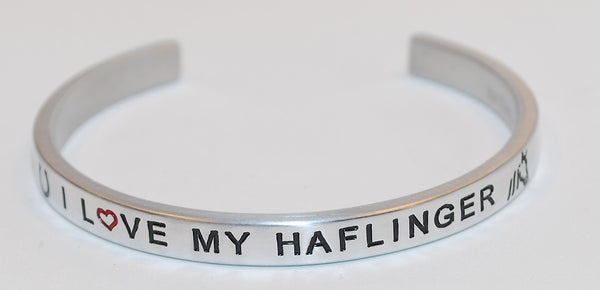 I Love My Haflinger  |  Engraved Handmade Bracelet by: Say It and Wear It Jewelry - #love