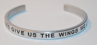 Horses Give Us The Wings We Lack | Engraved Handmade Bracelet by: Say It and Wear It Jewelry Say It and Wear It