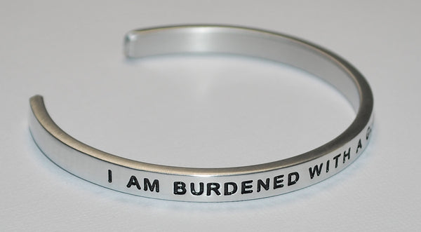 I Am Burdened With A Glorious Purpose | Engraved Handmade Bracelet by: Say It and Wear It Jewelry Say It and Wear It