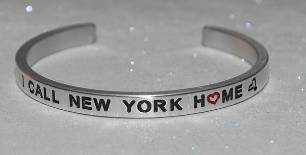 I Call New York Home  |  Engraved Handmade Bracelet by: Say It and Wear It Jewelry - #love