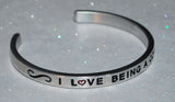 I Love Being A Coach  |  Engraved Handmade Bracelet by: Say It and Wear It Jewelry - #love
