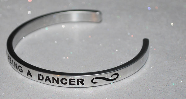 I Love Being A Dancer  |  Engraved Handmade Bracelet by: Say It and Wear It Jewelry - #love