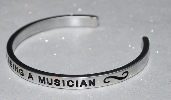 I Love Being A Musician  |  Engraved Handmade Bracelet by: Say It and Wear It Jewelry - #love