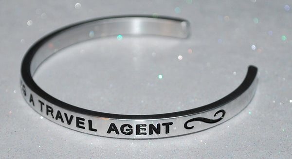 I Love Being A Travel Agent  |  Engraved Handmade Bracelet by: Say It and Wear It Jewelry - #love
