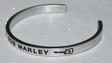 I Love Bob Marley  |  Engraved Handmade Bracelet By Say It and Wear It Jewelry - #love