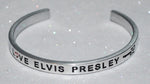 I Love Elvis Presley  |  Engraved Handmade Bracelet By Say It and Wear It Jewelry - #love