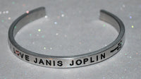 I Love Janis Joplin  |  Engraved Handmade Bracelet By Say It and Wear It Jewelry - #love