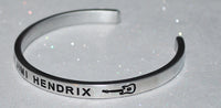 I Love Jimi Hendrix  |  Engraved Handmade Bracelet By Say It and Wear It Jewelry - #love