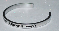 I Love John Lennon  |  Engraved Handmade Bracelet By Say It and Wear It Jewelry - #love