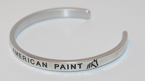 I Love My American Paint  |  Engraved Handmade Bracelet by: Say It and Wear It Jewelry - #love