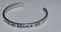 I Love My Beagle   |  Engraved Handmade Bracelet by: Say It and Wear It Jewelry - #love