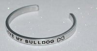 I Love My Bulldog   |  Engraved Handmade Bracelet by: Say It and Wear It Jewelry - #love