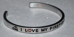 I Love My Firefighter Dad  |  Engraved Handmade Bracelet by: Say It and Wear It Jewelry - #love