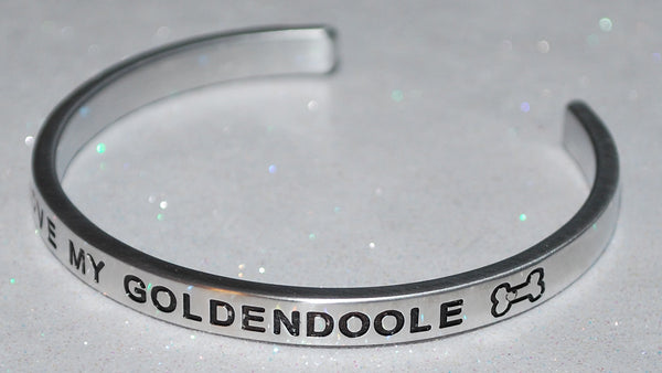 I Love My Goldendoole   |  Engraved Handmade Bracelet by: Say It and Wear It Jewelry - #love