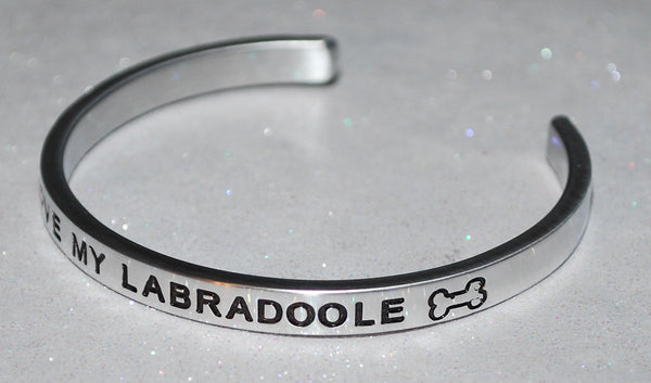 I Love My Labradoole   |  Engraved Handmade Bracelet by: Say It and Wear It Jewelry - #love