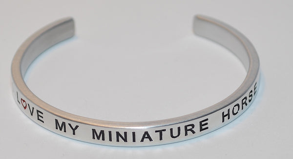 I Love My Miniature Horse  |  Engraved Handmade Bracelet by: Say It and Wear It Jewelry - #love