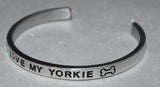I Love My Yorkie   |  Engraved Handmade Bracelet by: Say It and Wear It Jewelry - #love