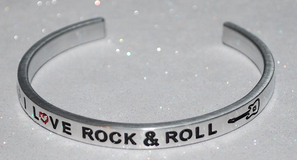 I Love Rock & Roll  |  Engraved Handmade Bracelet By Say It and Wear It Jewelry - #love