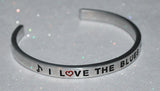 I Love The Blues  |  Engraved Handmade Bracelet By Say It and Wear It Jewelry - #love