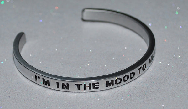 I'm In The Mood To Missbehave   |  Engraved Handmade Bracelet by: Say It and Wear It Jewelry - #love