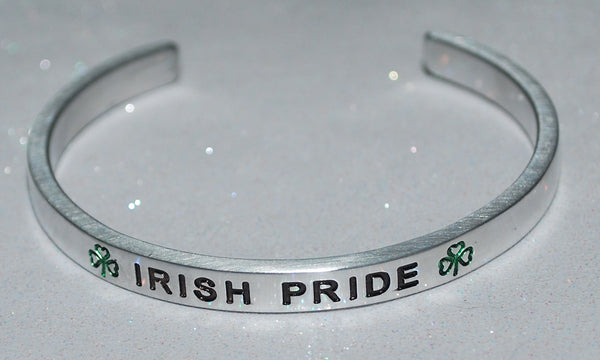Irish Pride  |  Engraved Handmade Bracelet by: Say It and Wear It Jewelry - #love