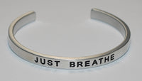 Just Breathe   |  Engraved Handmade Bracelet by: Say It and Wear It Jewelry - #love