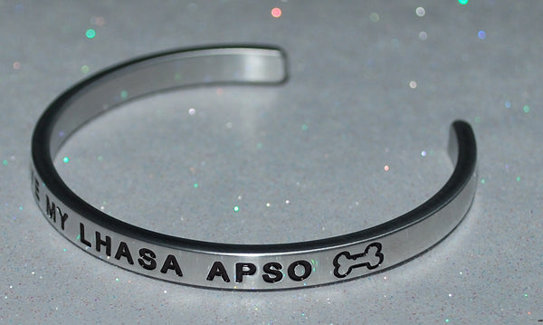 I Love My Lhasa Apso   |  Engraved Handmade Bracelet by: Say It and Wear It Jewelry - #love