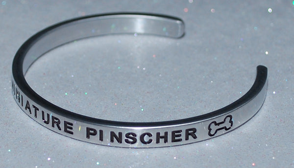 I Love My Miniature Pincher   |  Engraved Handmade Bracelet by: Say It and Wear It Jewelry - #love